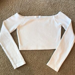 Misguided off the shoulder crop top